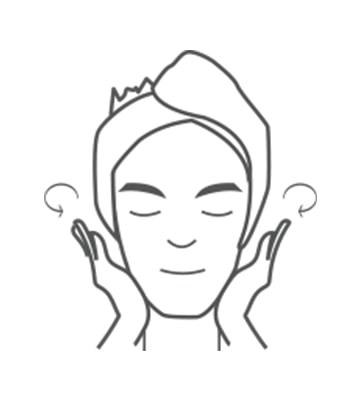 均勻使用於臉部及頸部肌膚。