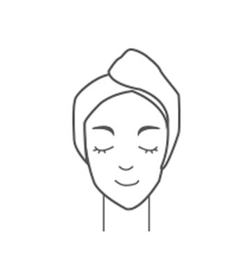 洗淨臉後將臉擦乾後使用,每週建議使用2到3次。