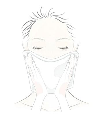 在臉部及手部乾燥的情況下使用。