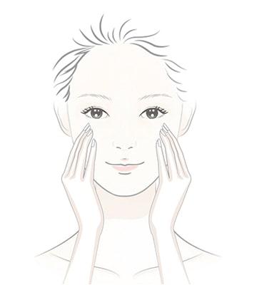 取出按壓 2~3 次的用量於臉部按摩30秒。