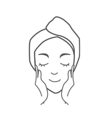 早晚清潔臉部肌膚後,使用於醒肌露或導入液後。