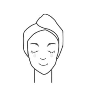 溫熱掌心沿著臉部肌膚輕輕按壓,幫助精華液滲透吸收到肌膚底層。