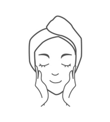 請使用於基礎保養最後一道程序之後,並均勻塗抹於肌膚